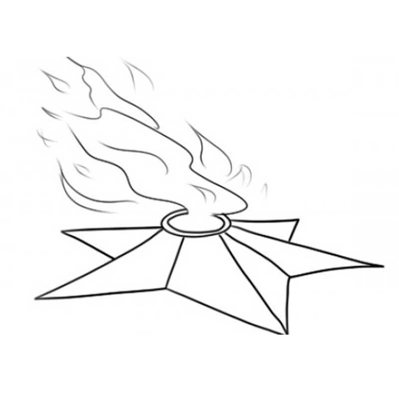 вечный огонь карандашом фото вокруг бесконечный