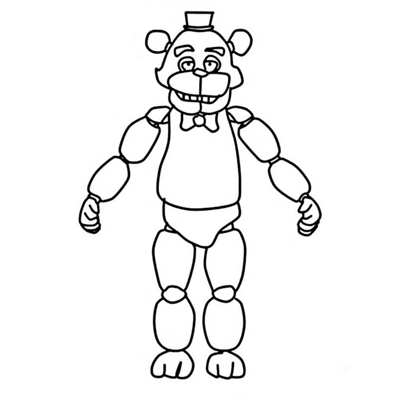 Мишка фредди раскраска распечатать