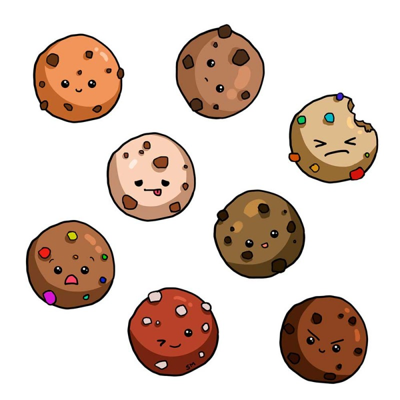Картинки печенька с глазками