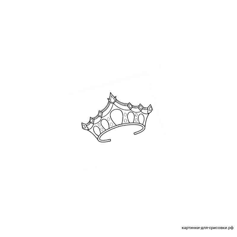 Картинки для срисовки корона с розами