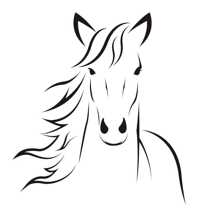 Маленькие картинки лошадей для срисовки