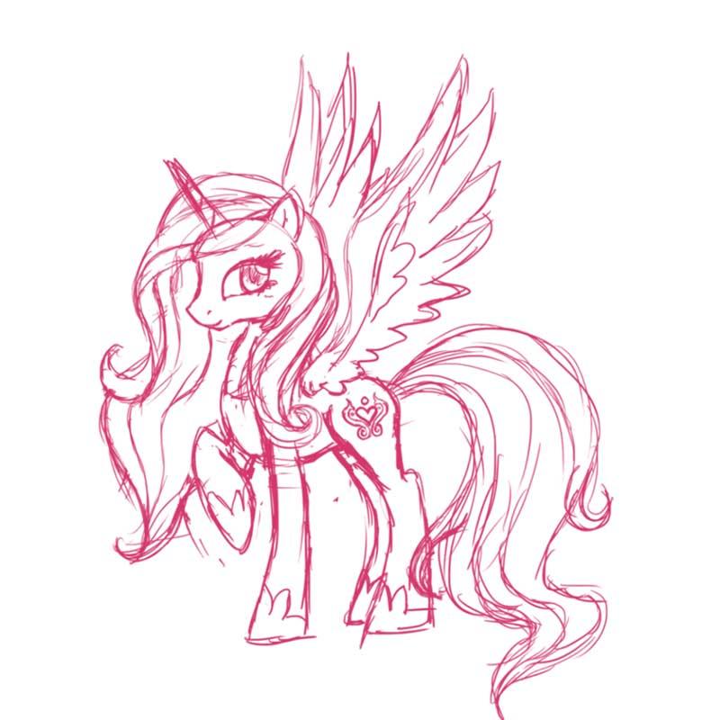Картинки для срисовки пони каденс