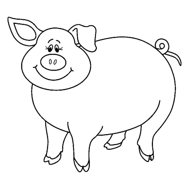 Распечатать картинки свиньи