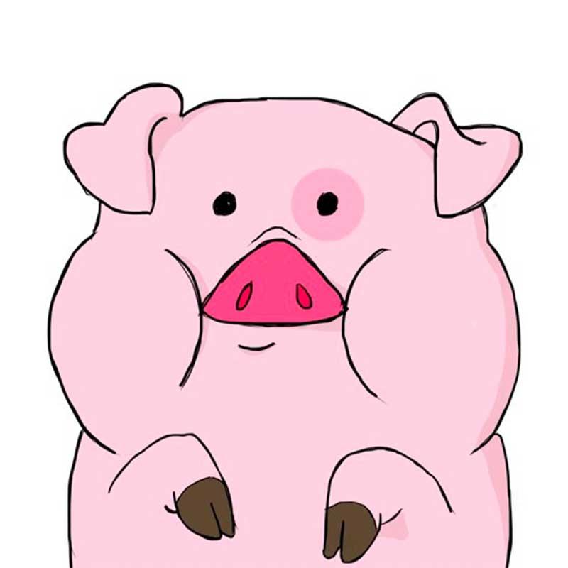 Картинка маленькой свинки для срисовки